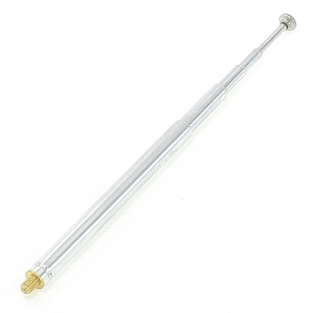 Silver Tone FM Radio TV 5 Sections Telescopic Antenna Aerial 22cm