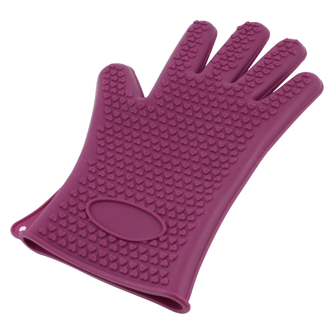 Amaranth Silicone Microwave Oven Baking Heat Hot Resistance Gloves