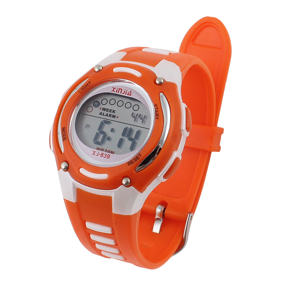 Ladies Adjustable Band Water Resistant Stopwatch Digital Wrist Watch Orange