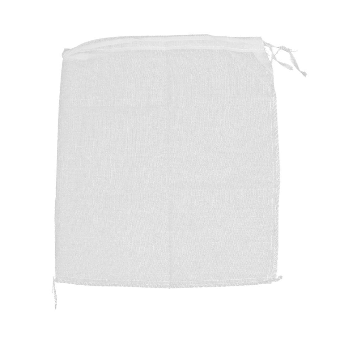 235mm x 275mm Soup Ingredients Filtration Filter Reusable Mesh Bag White 3 Pcs