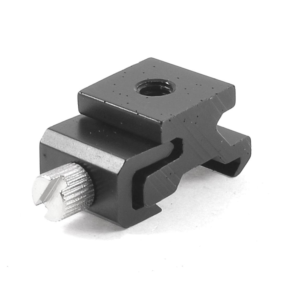 "Camera Flash Light Hot Shoe Stand Aluminum 1/4"" Thread Mount Adapter Black"