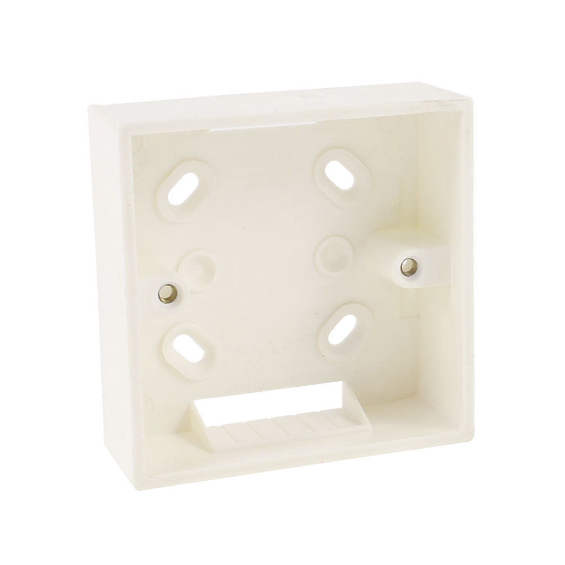 White Wall Plate Back Box for 86mm RJ45 Sockets Faceplate