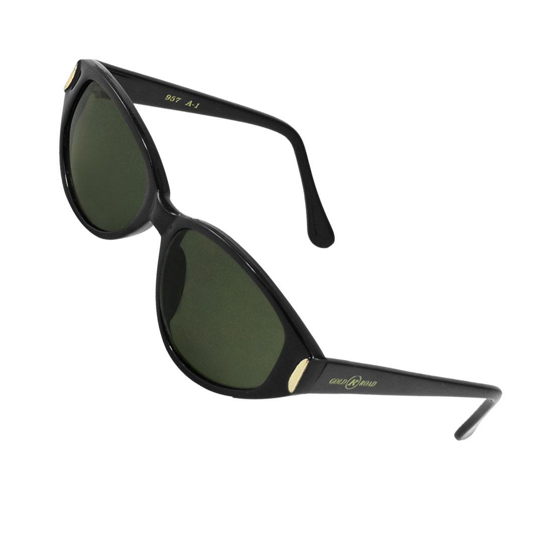 Clear Dark Green Raindrop Lens Black Full Frame Sunglasses Glasses for Women