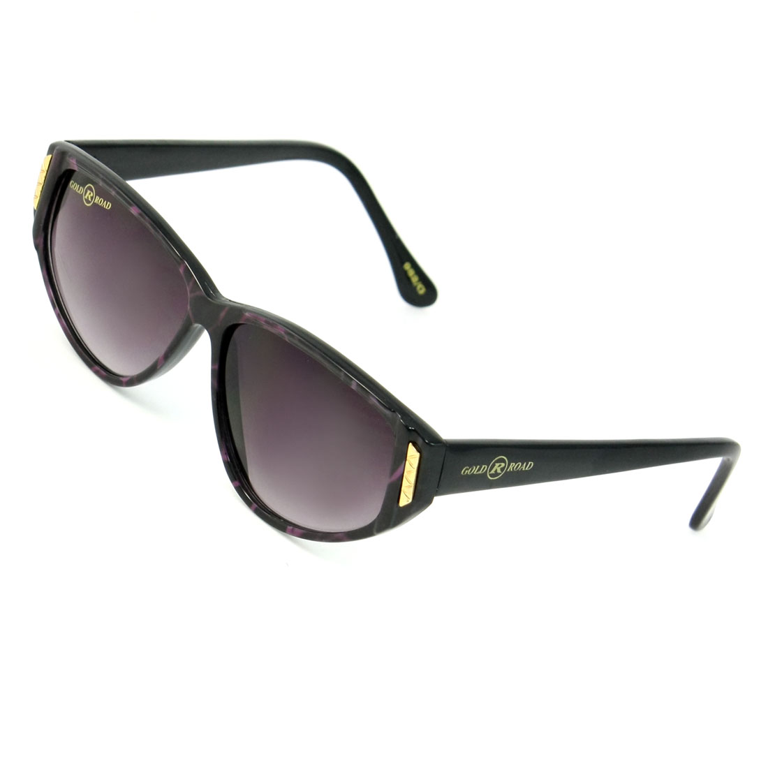 Clear Gray Teardrop Lens Metal Decor Plastic Full Rim Sunglasses Glasses for Ladies