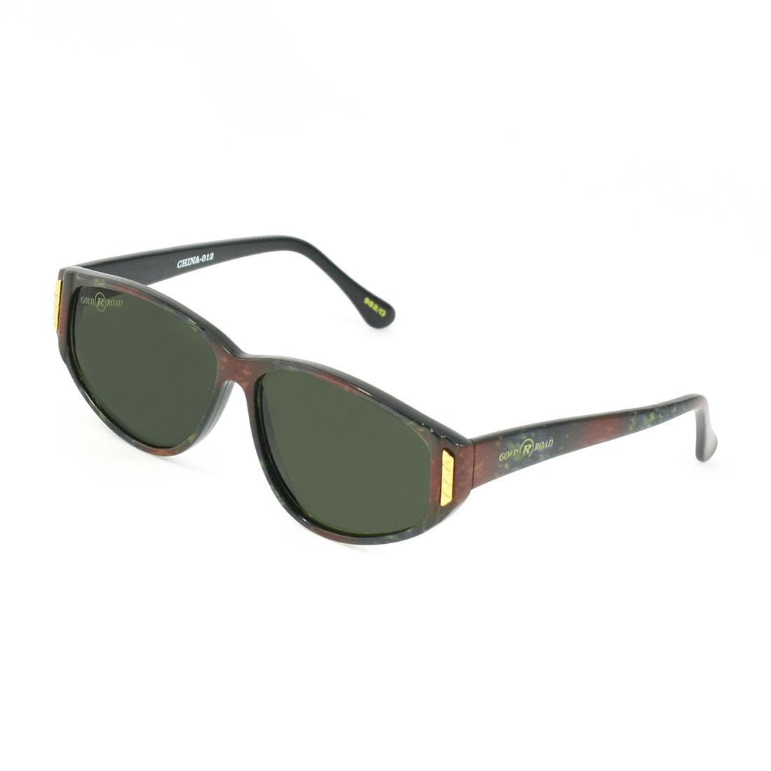 Clear Black Lens Metal Decor Painted Full Rim Sunglasses Eyeglasses for Ladies