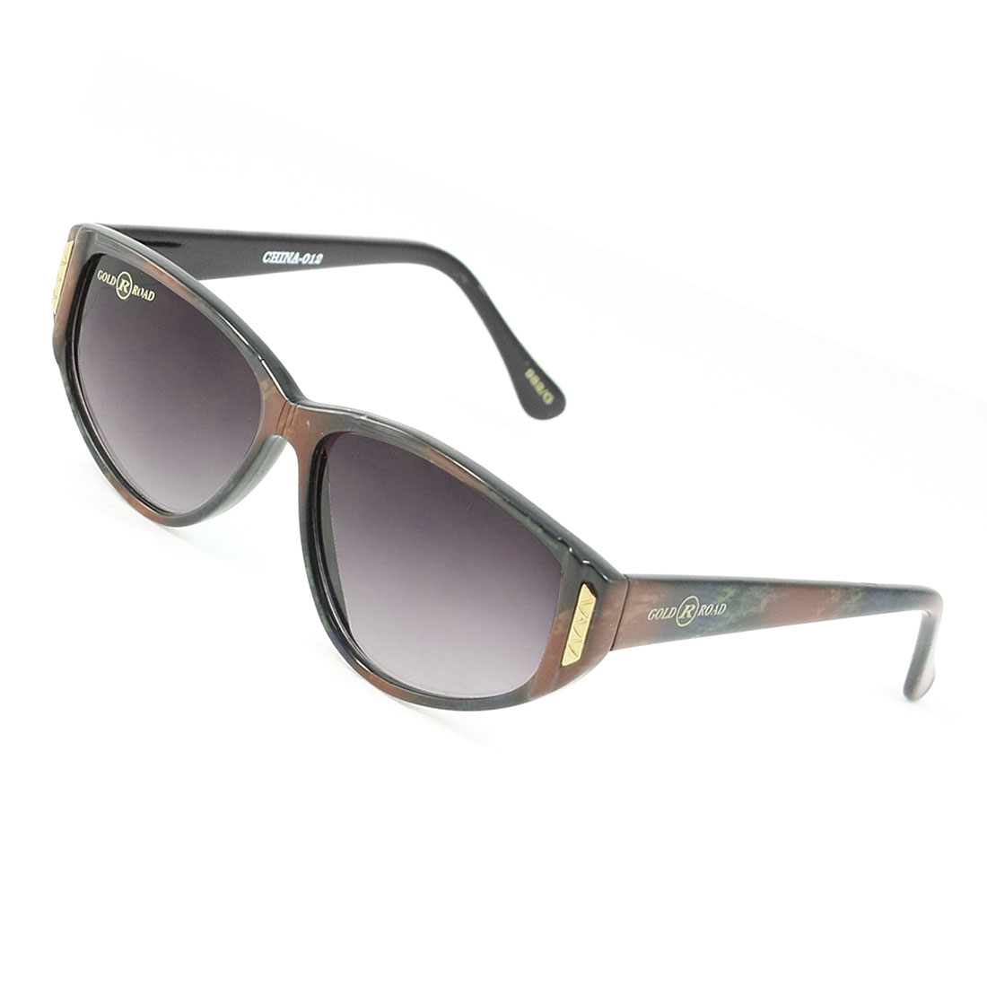 Outdoor Colored Teardrop Lens Painted Full Frame Sunglasses for Women