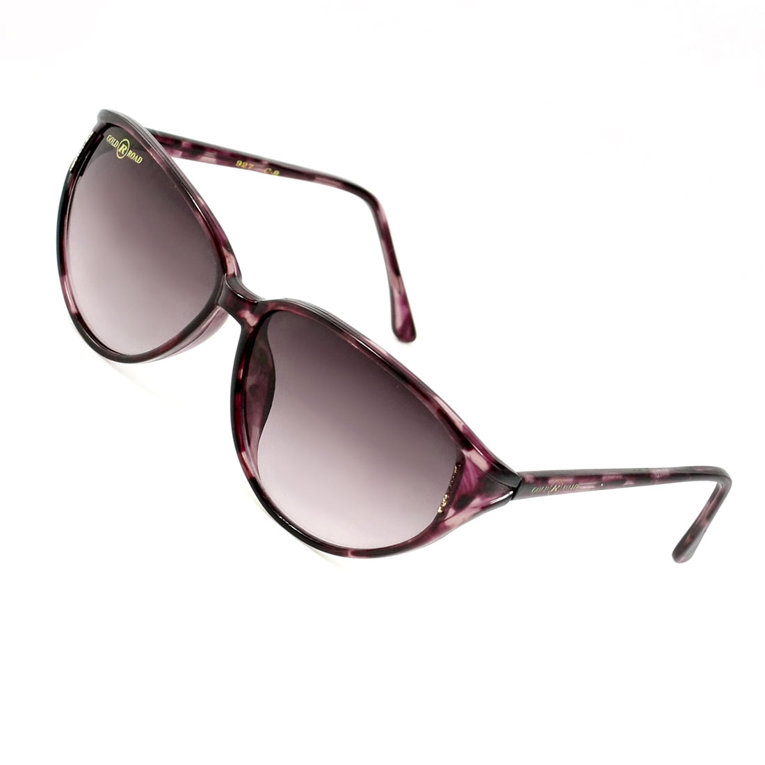 Woman Teardrop Lens Burgundy Full Frame Single Bridge Sunglasses Glasses
