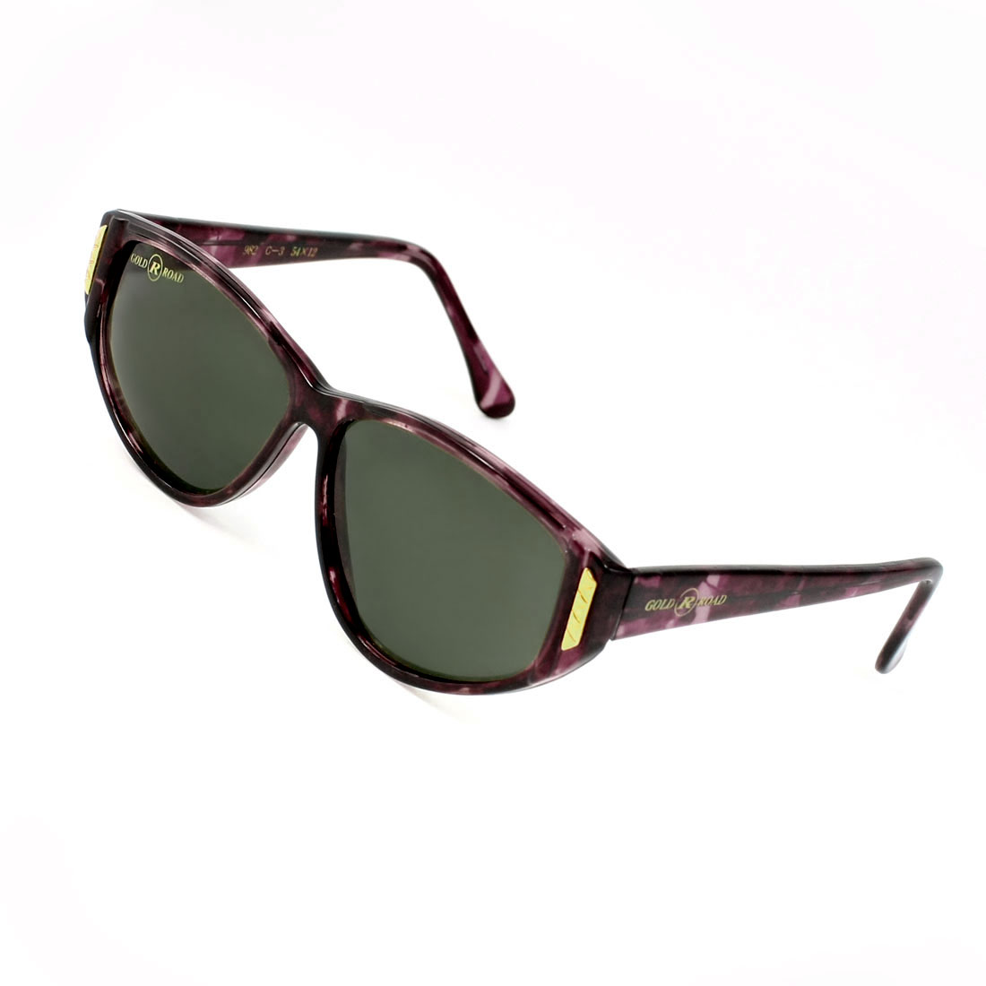 Waterdrop Lens Plastic Burgundy Full Rim Frame Sunglasses Glasses for Ladies