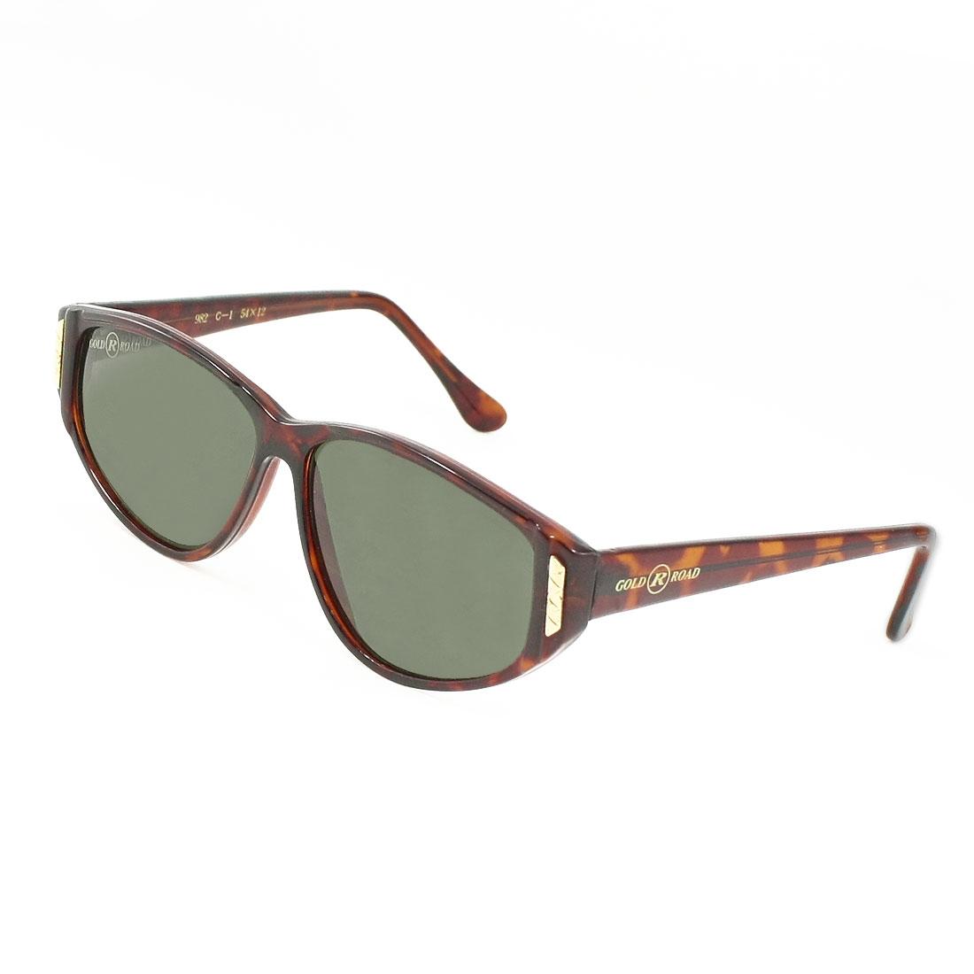 Ladies Clear Black Waterdrop Lens Brown Plastic Full Frame Sunglasses