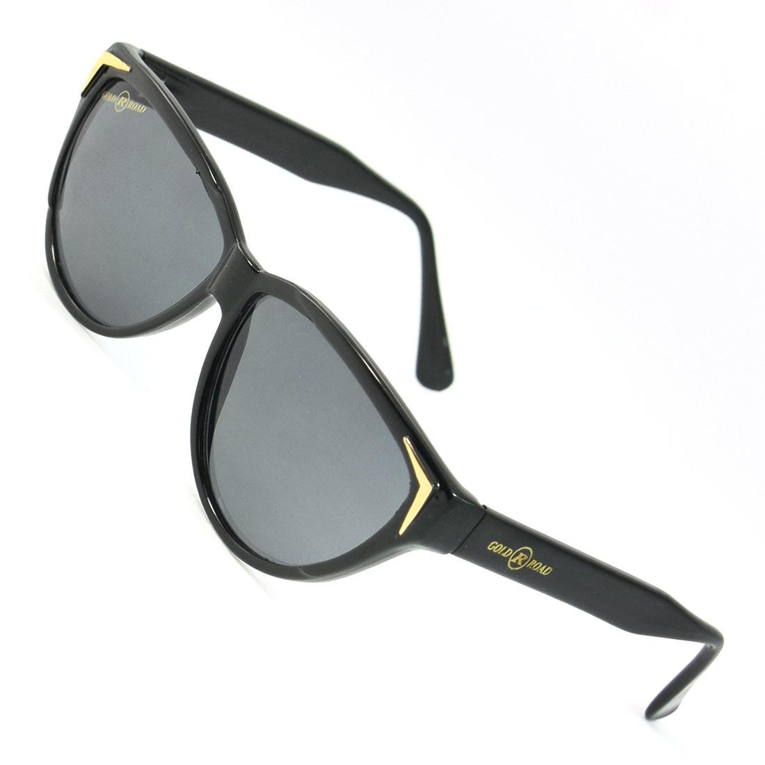 Women Colored Waterdrop Lens Black Full Rim Frame Sunglasses Glasses