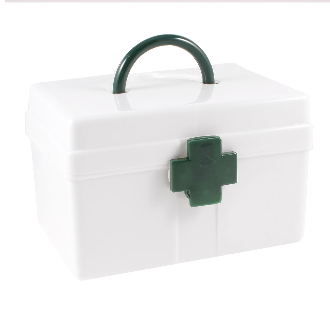"Portable White Plastic Kits Medicine Box Storage Case 6.4""x4.5""x4.3"""