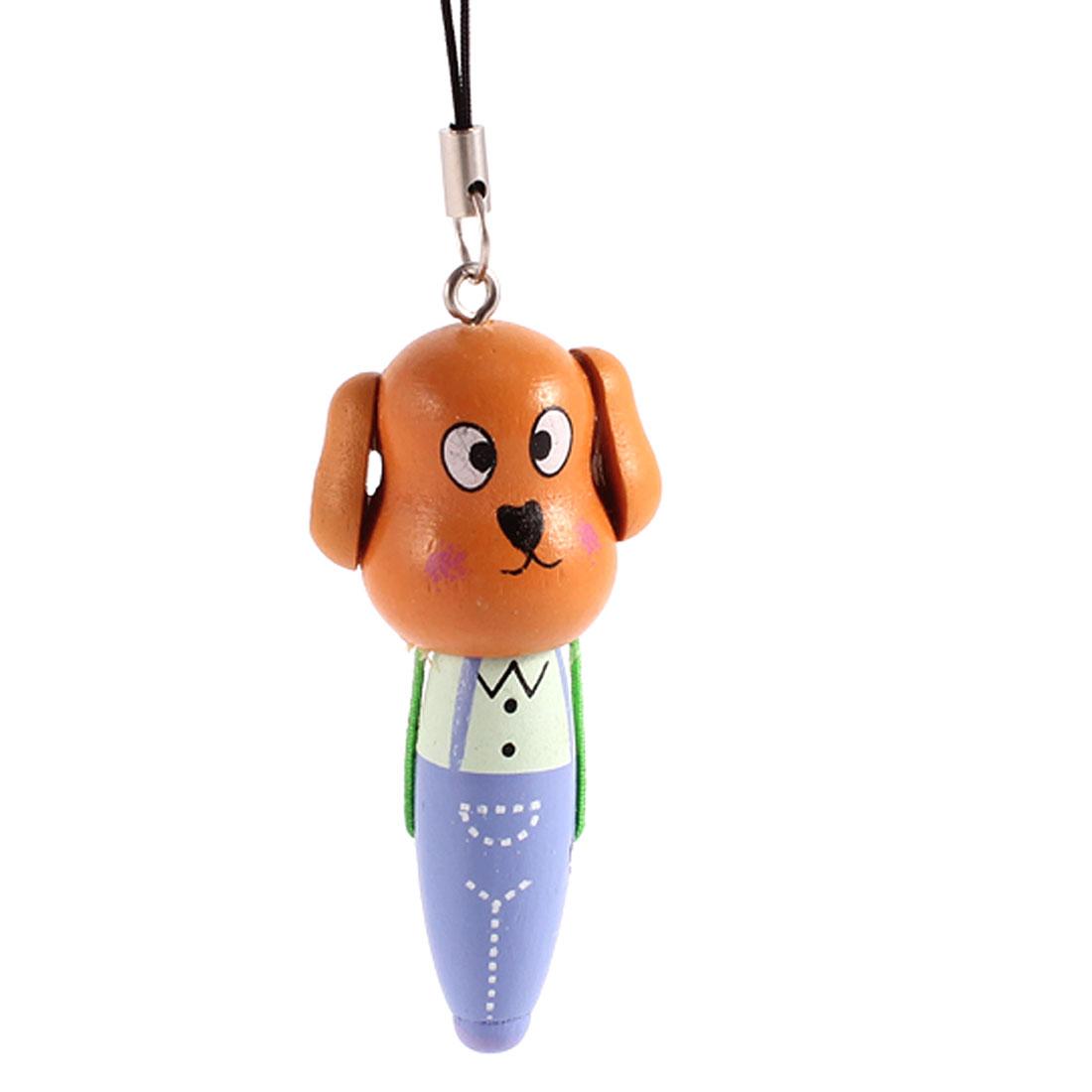 Orange Plastic Ballpoint Design Cartoon Dog Dangle Phone Hanging Strap Decoration