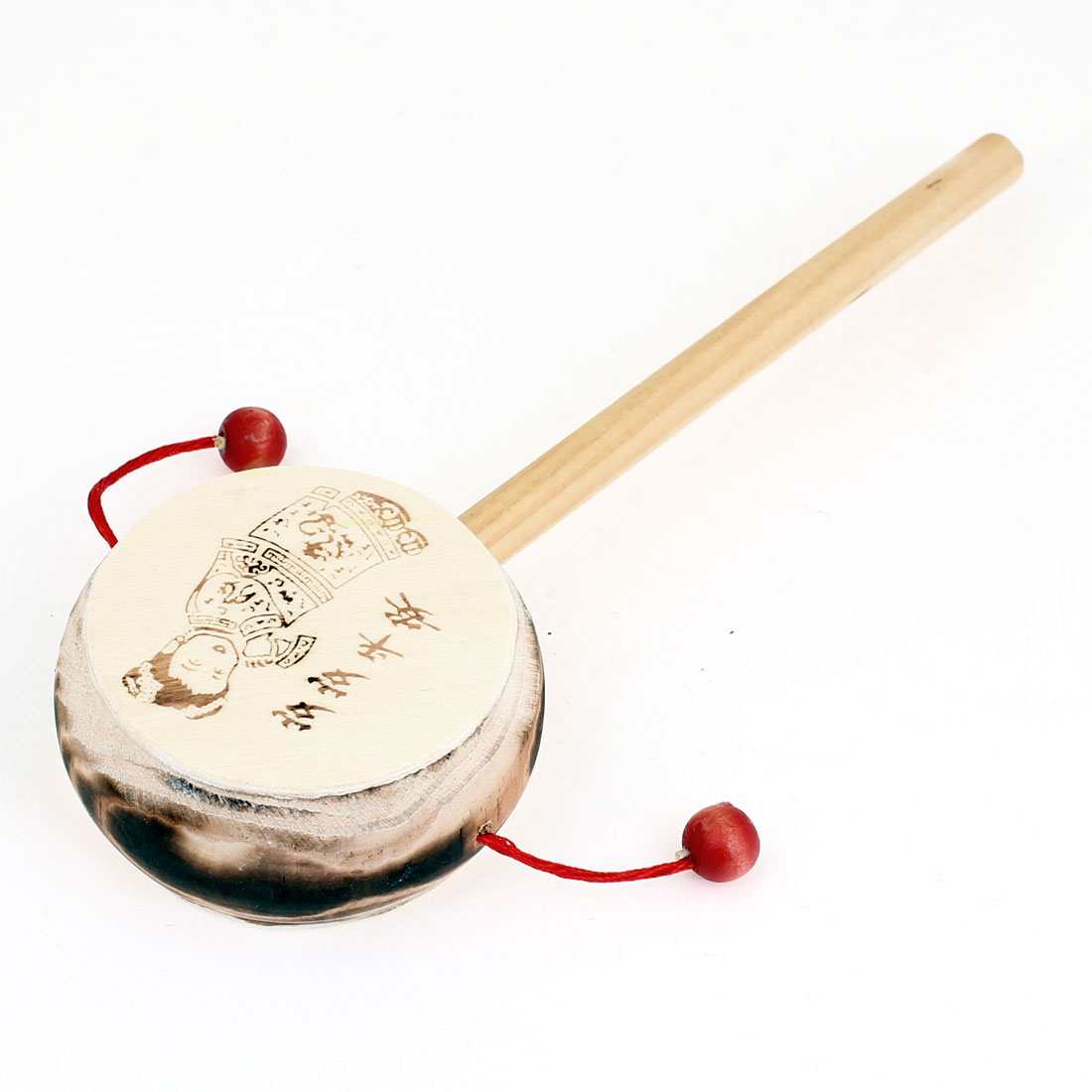 Rattling Rhythmic Wooden Rattle Drum Hand Shake Toy for Kid