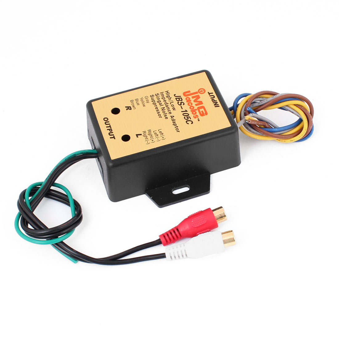 High/ Low Impedance Adapter Signal Noise Filter Suppressor for Car