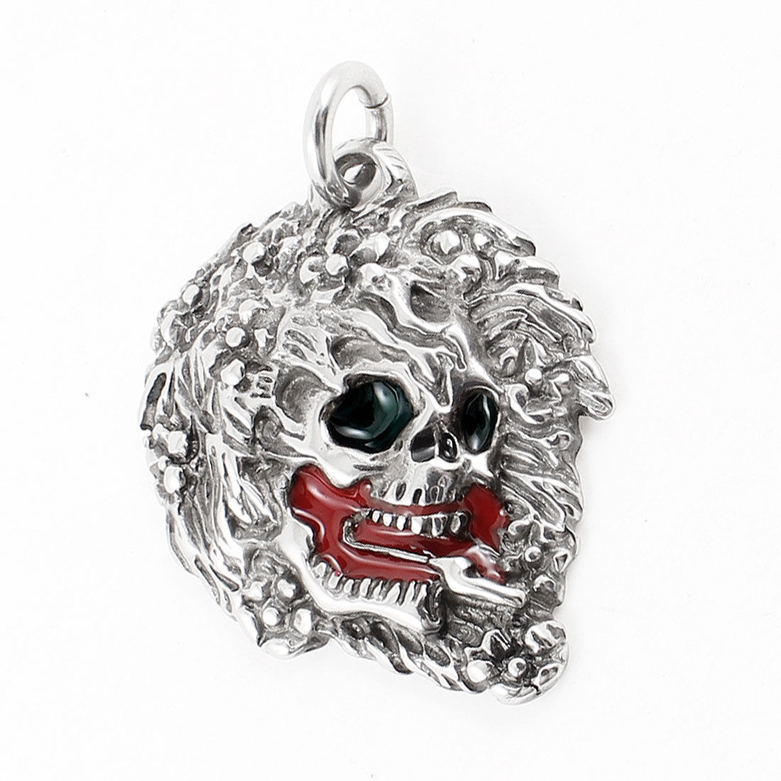 Men Silver Tone Stainless Steel Lion Shape Necklace Pendant