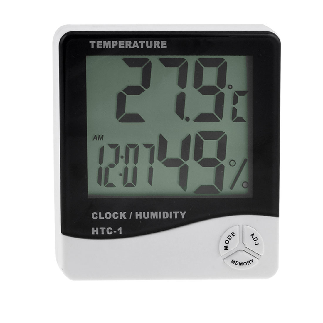 HTC-1 Digital LCD Display Max-Min Temperature Humidity Meter Hygrometer Clock