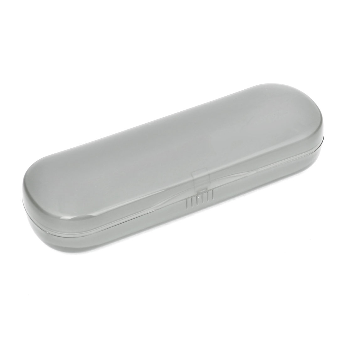Oval Rectangle Hard Plastic Eyeglasses Case Box Holder Container Clear Gray
