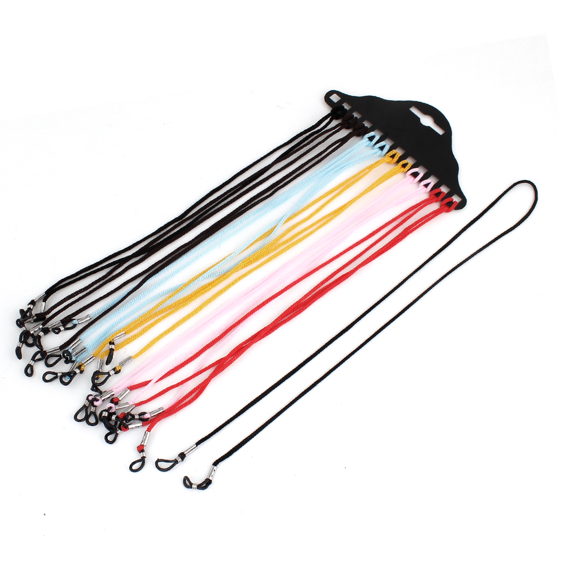 Assorted Colors Nylon Neck Cord String Eyewear Retainer Strap Holder 12 Pcs