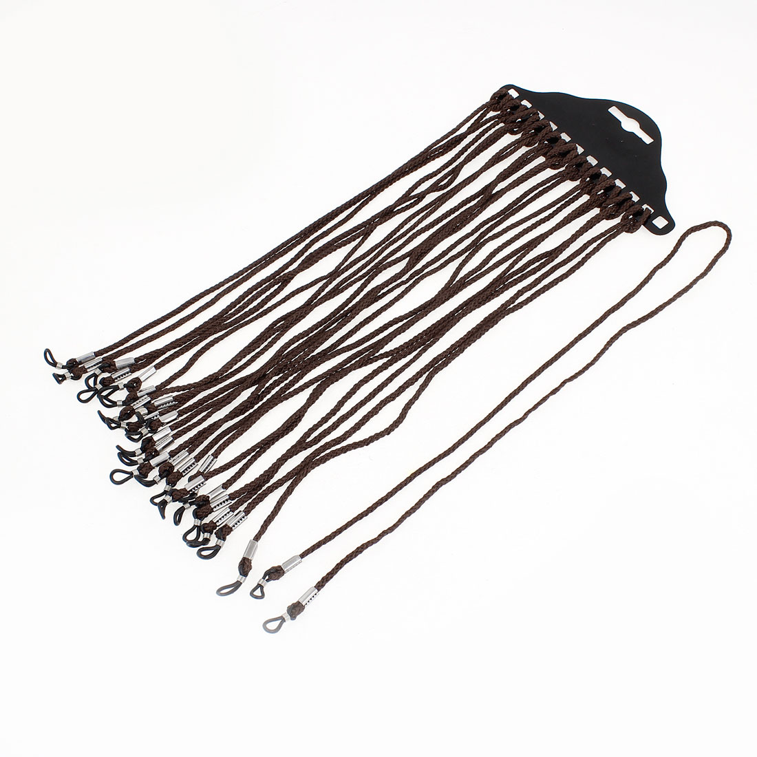 12PCS Brown Nylon Neck Cord Reading Glasses Retainer String 60cm Long
