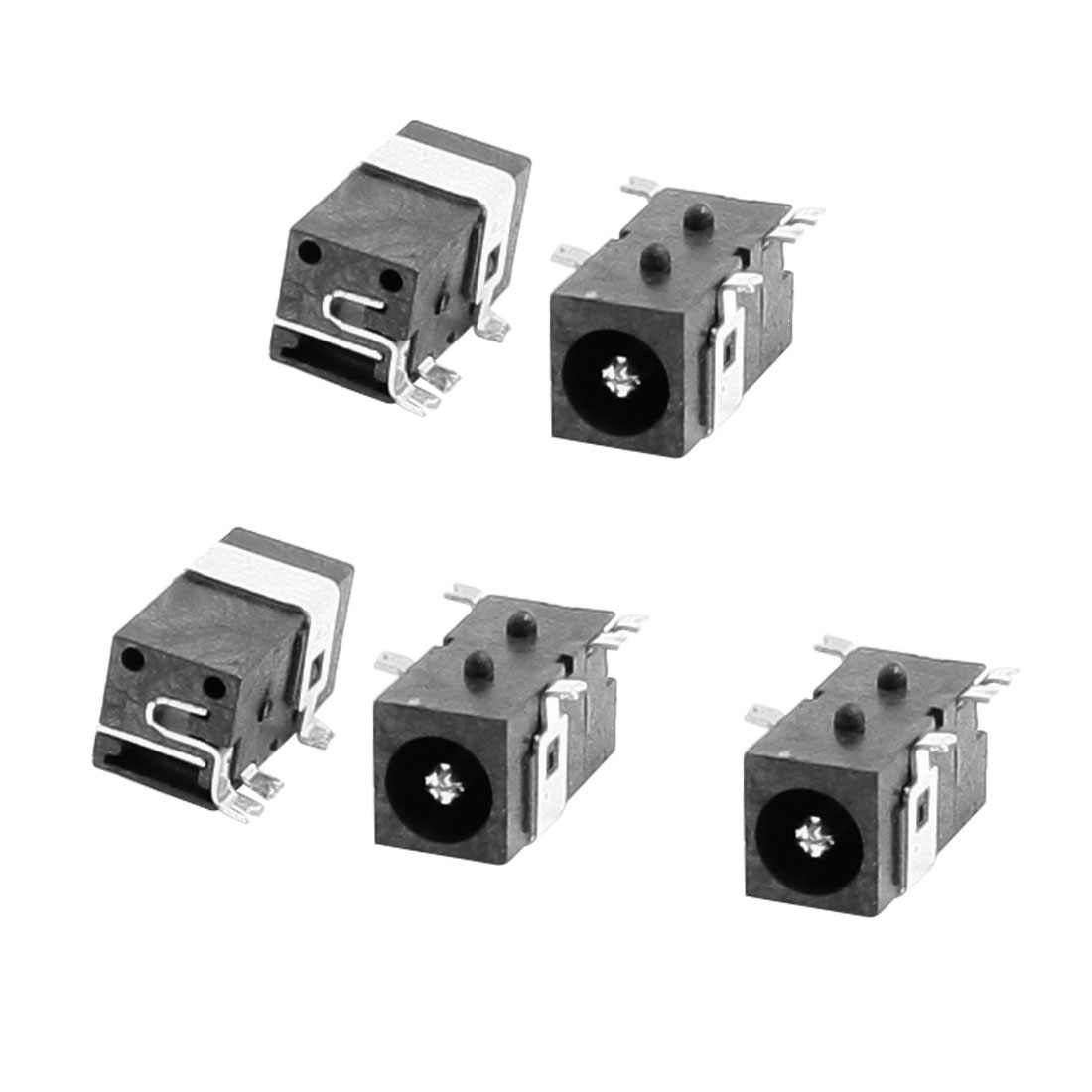Right Angle 5 pin DIP PCB Mount 2.5mm Stereo Jacks Connectors DC045 5 pcs