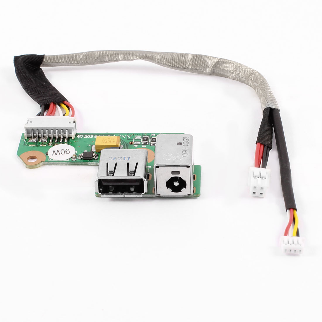 DC Power Jack Socket Cable Wire USB Port Board 90W PJ126 for HP Pavilion DV6000