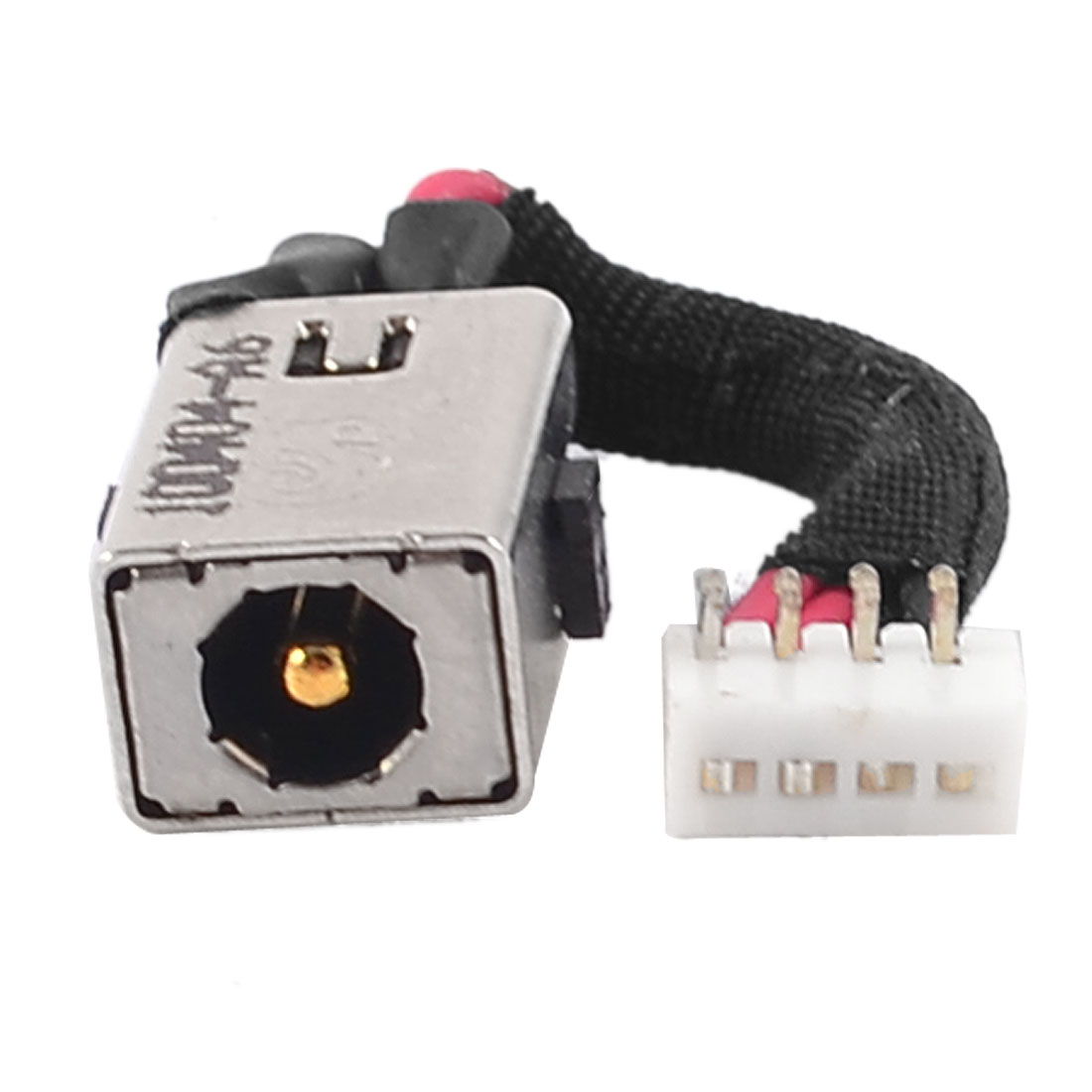 PJ188 DC Jack Power Socket w 4 Pins Cable for Laptops