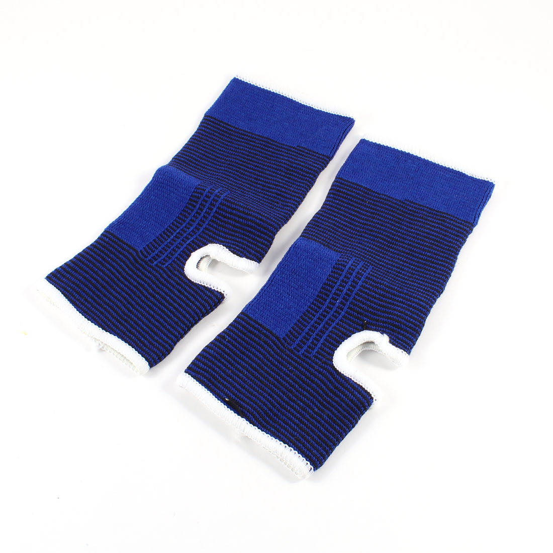2 Pcs Blue Elastic Fabric Cotton Blend Band Wrist Palm Support Protector