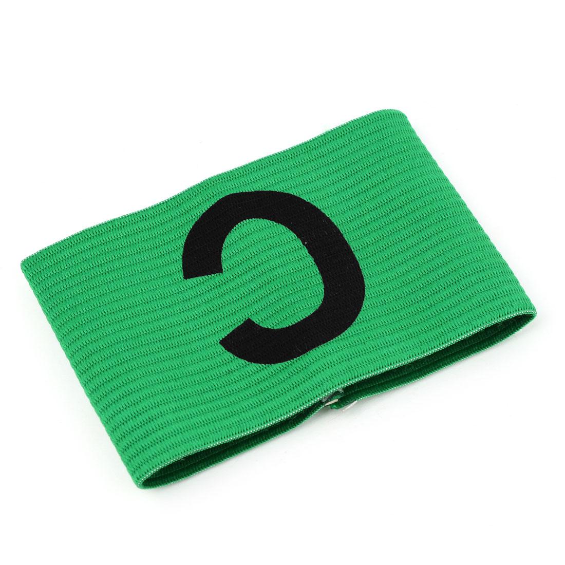 Portable Green Elastic Tension Football Soccer Captain Armband