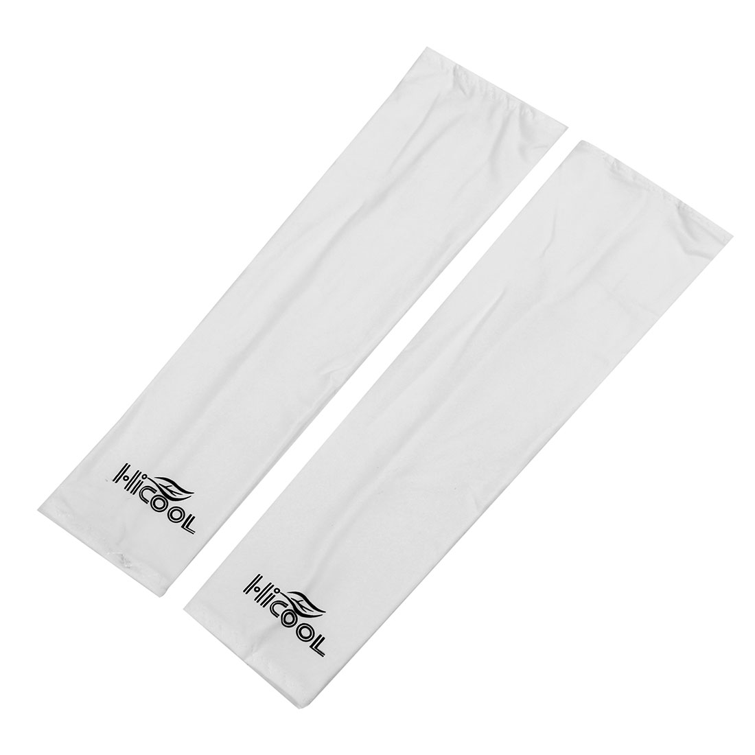 Pair Stretchy Cycling Golf Arm Sleeves Oversleeves White for Women