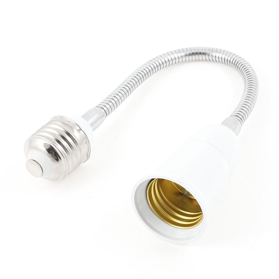 "E27 Light Lamp Bulb Flexible Gooseneck Extension Adapter Converter 11.4"" Long"