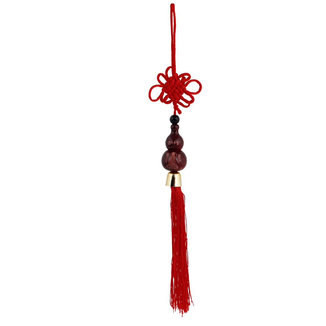 Car Tassels Engraved Chinese Character Calabash Pendant Chinese Knot Ornament