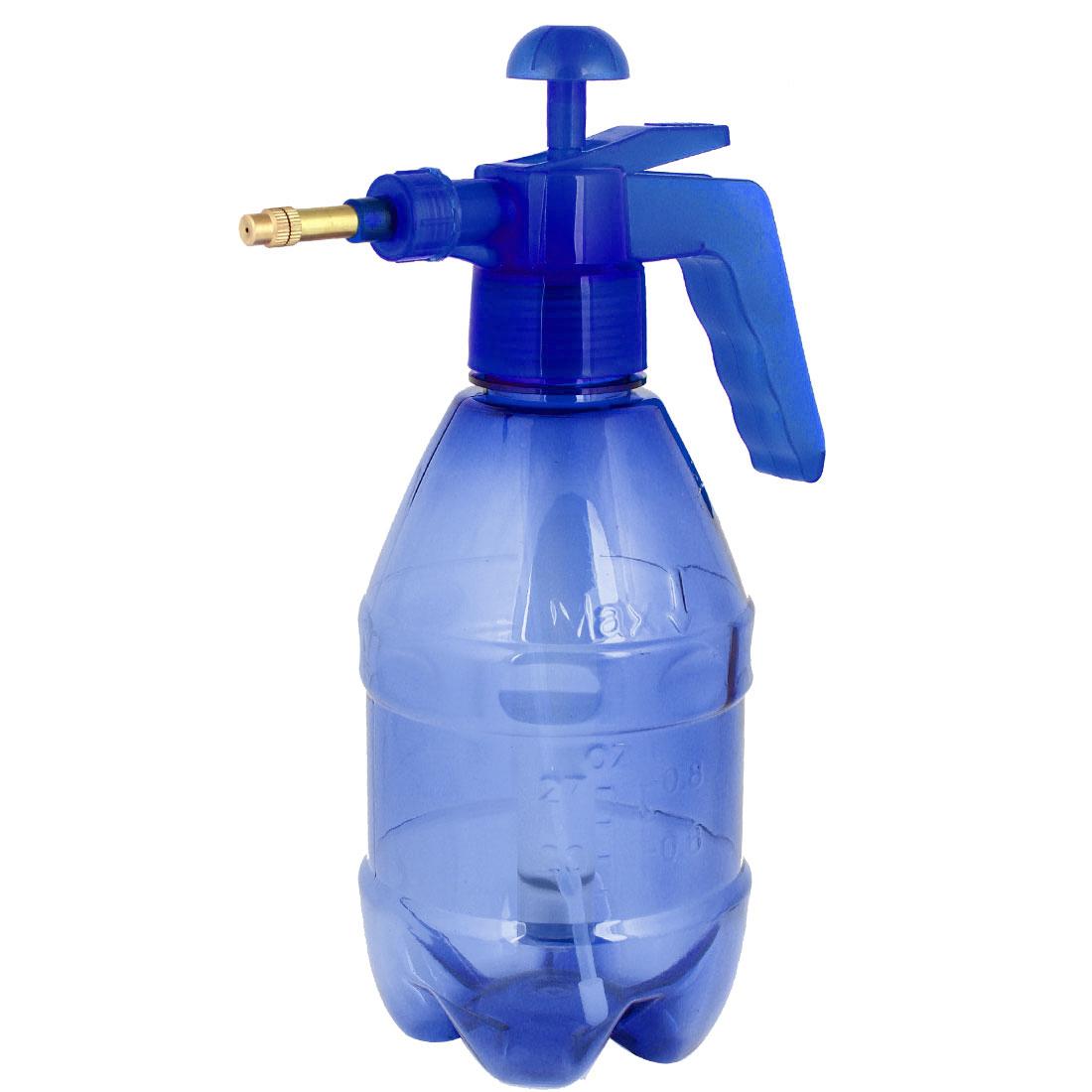 1.5L Pressure Chemical Sprayer Garden Plant Water Spray Bottle Clear Blue