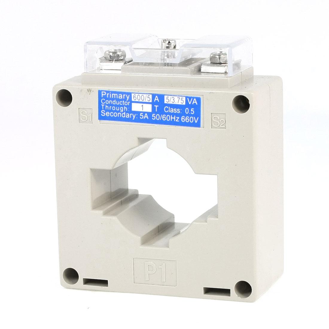 0.66KV 50/60Hz 0.5 Accuracy 600/5 Current Transformer BH-0.66CT 98mmx82mmx40mm