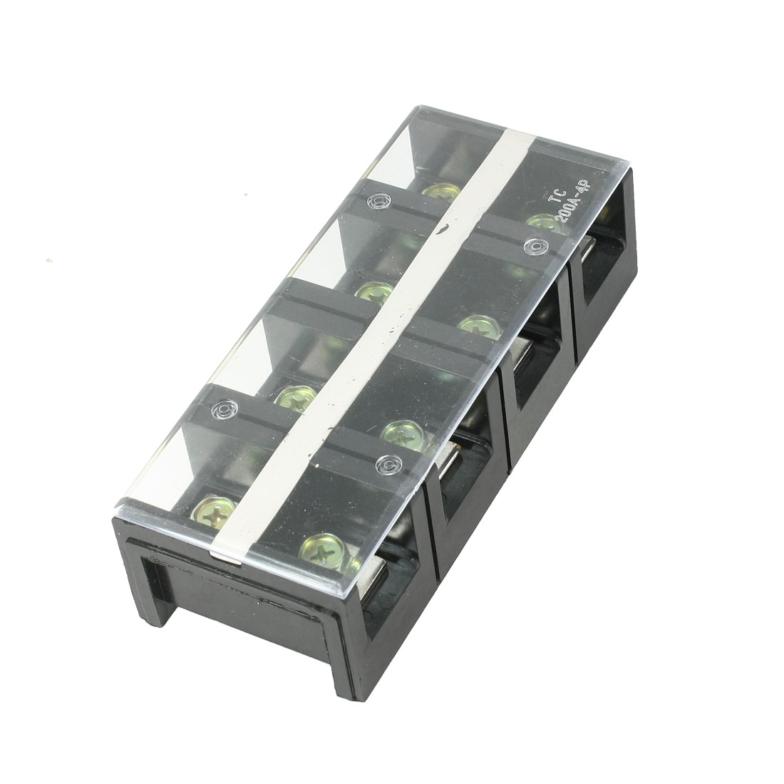 600V 200A Dual Row 4P 4 Positions Barrier Screw Terminal Block TC-2004