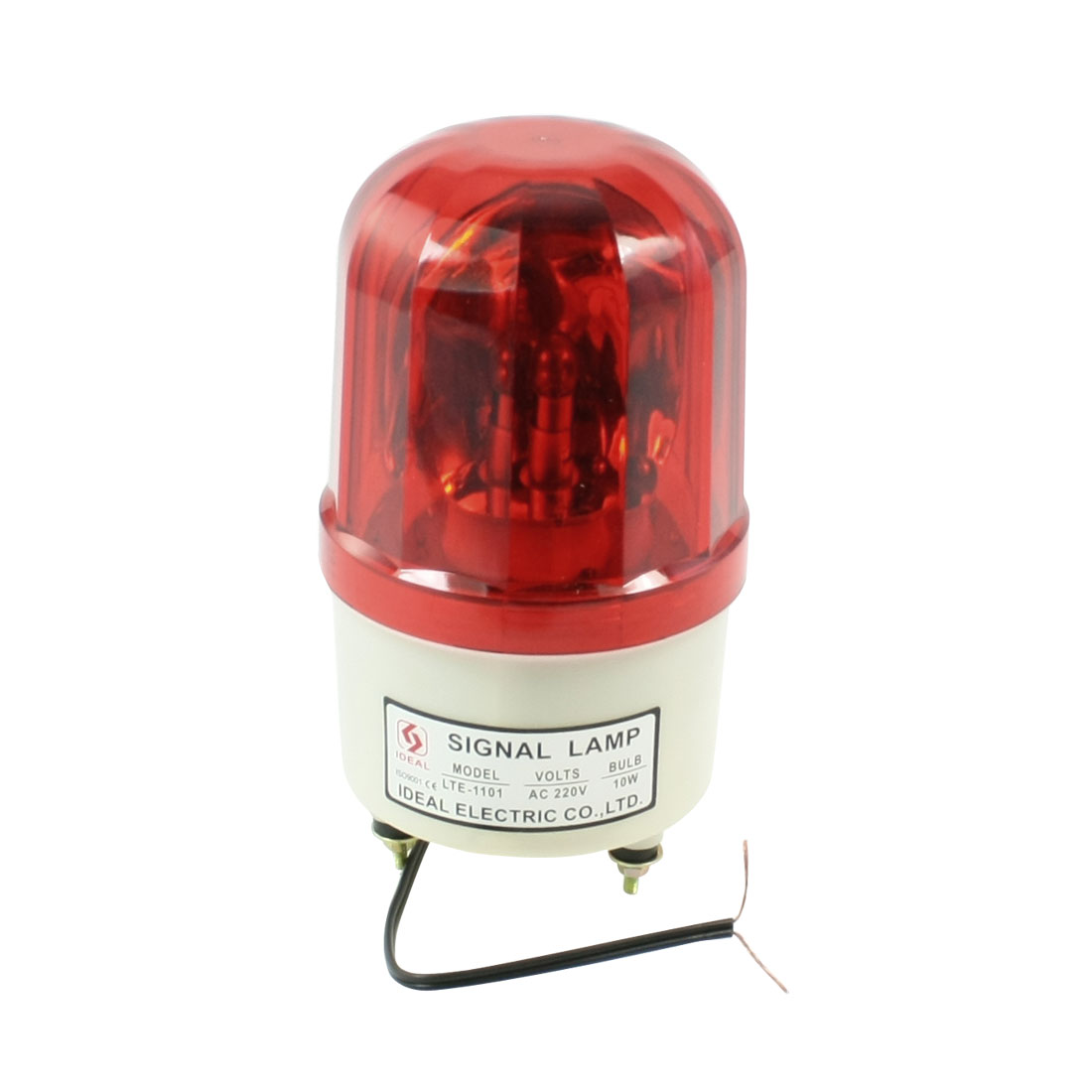 AC 220V 10W Dome Case Industrial Rotary Signal Light Lamp Red LTE-1101