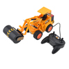 Black Plastic Radio Remote Control Yellow Excavator Digger Toy for Kids