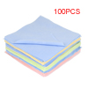 100PCS 13cm x 13cm Square Scalloped Edge Glasses Lens Cleaning Cloth Tool
