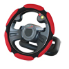 Sandwich Sport Type Car Steering Wheel Cover Anti-slip 41CM Size L Black-Red