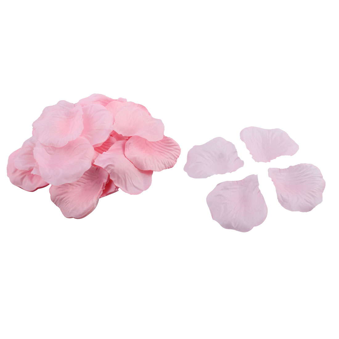 Pink 100 Pcs Manmade Fabric Rose Petal Ornament for Wedding Festival Bridal