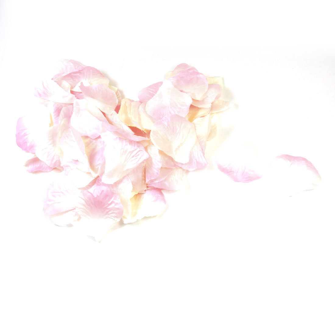 100 Pcs Wedding Party Detail Emulational Fabric Rose Petals Off White Pink