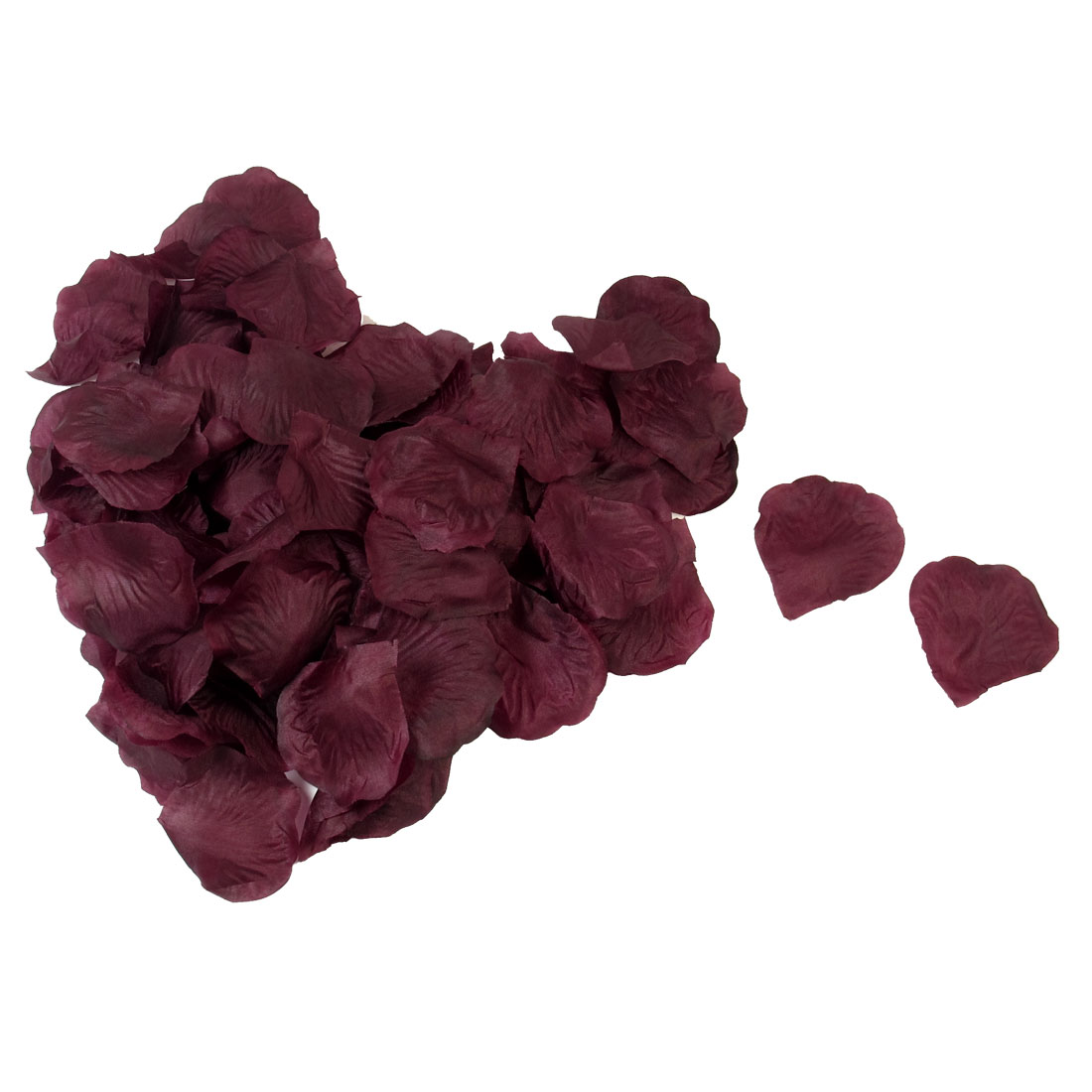 100 Pcs Wedding Bedroom House Detail Manmade Fabric Rose Floral Petals Claret