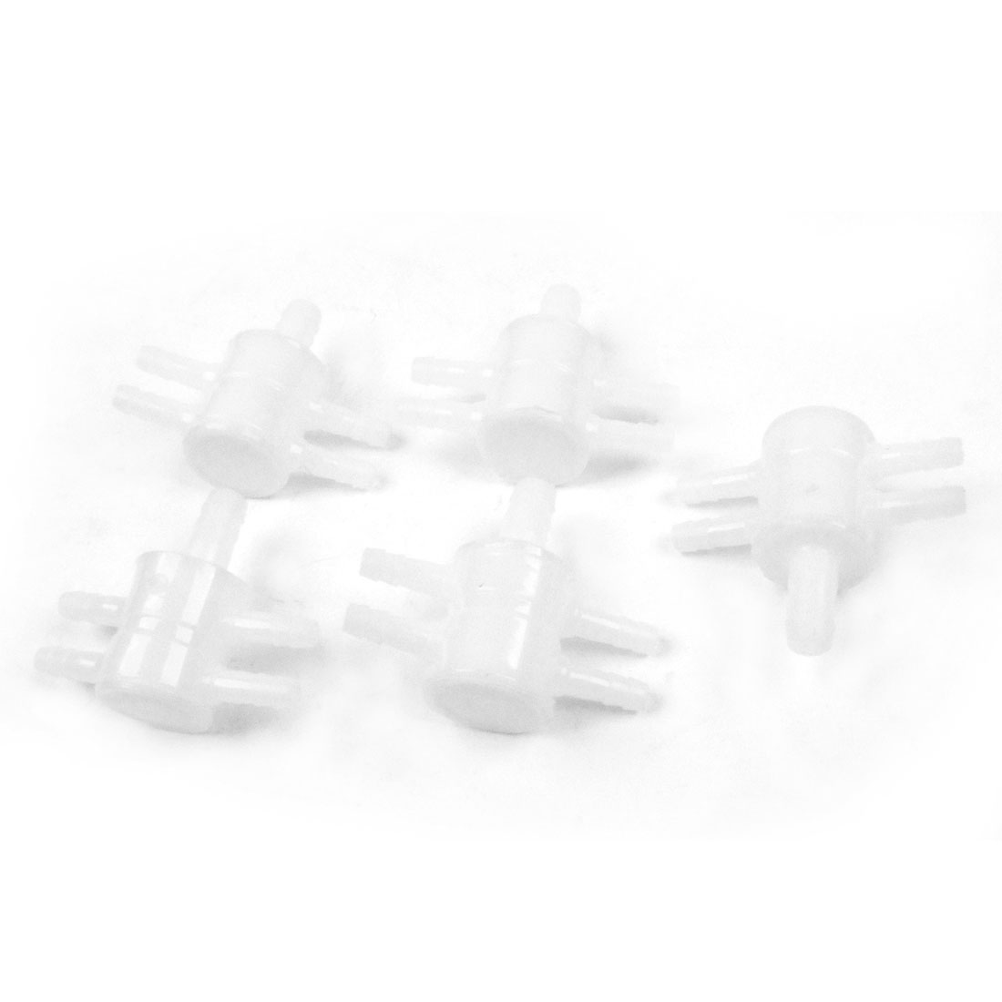 5 Pcs 5mm Tube Dia 4 Way Water Air Flow Control Valve for Aquarium Fish Tank