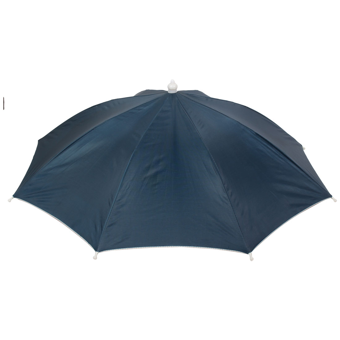 Self Tie Metal Frame Outdoor Fishing Umbrella Hat Cap Blue w Gray Strap