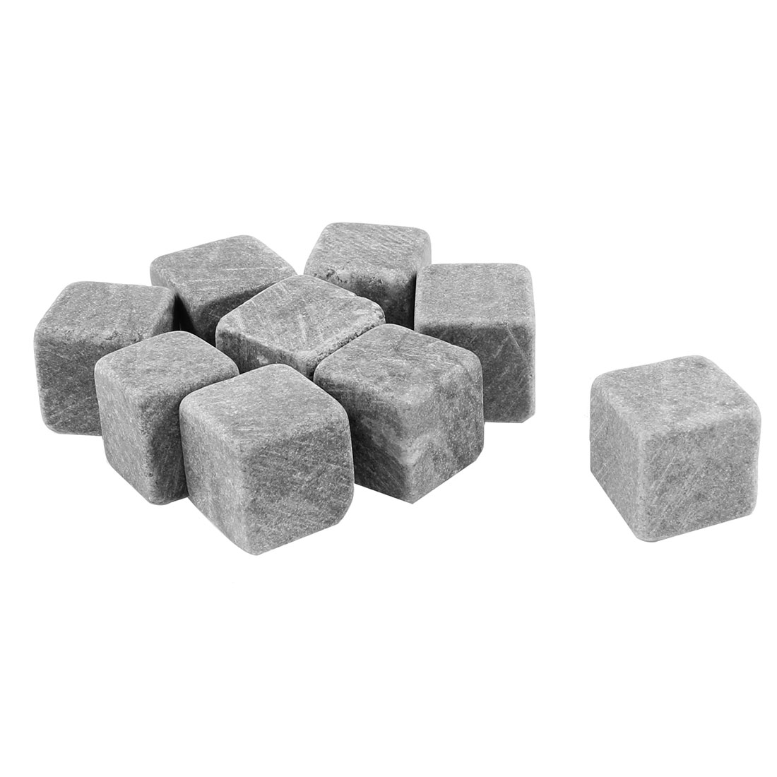 9 in 1 Gray Ceramic Ice Cube Whisky Scotch Chilling Stones 20mmx20mmx20mm
