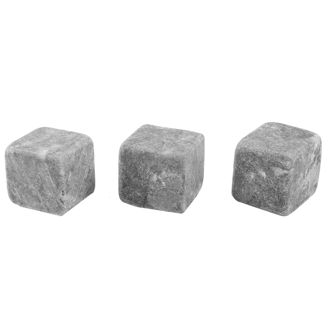 3 Pcs Gray Ceramic Whisky Stones Ice Cube 20mmx20mmx20mm w Drawstring Pouch
