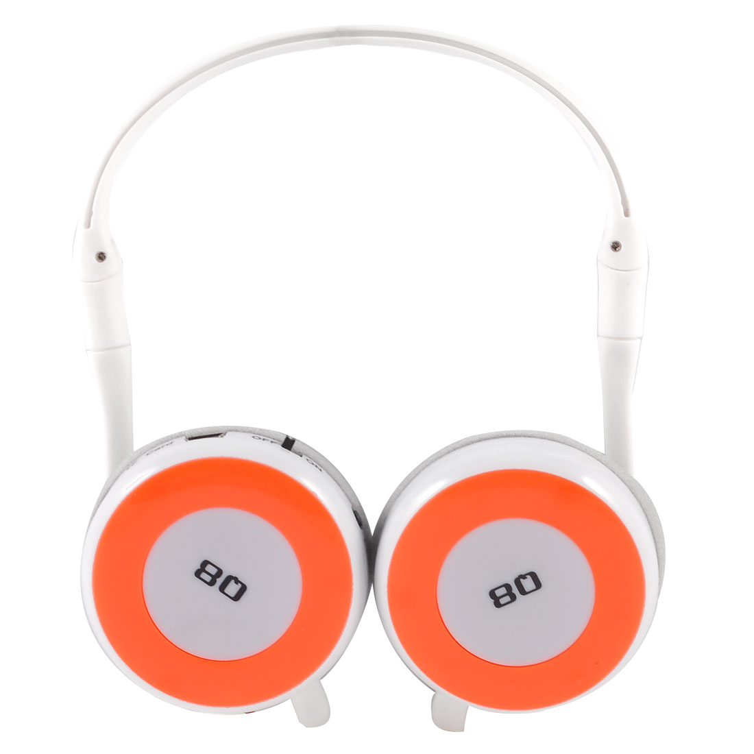 Orange White Wireless TF Card MP3 Music Player FM Radio Stereo Headset Headphone