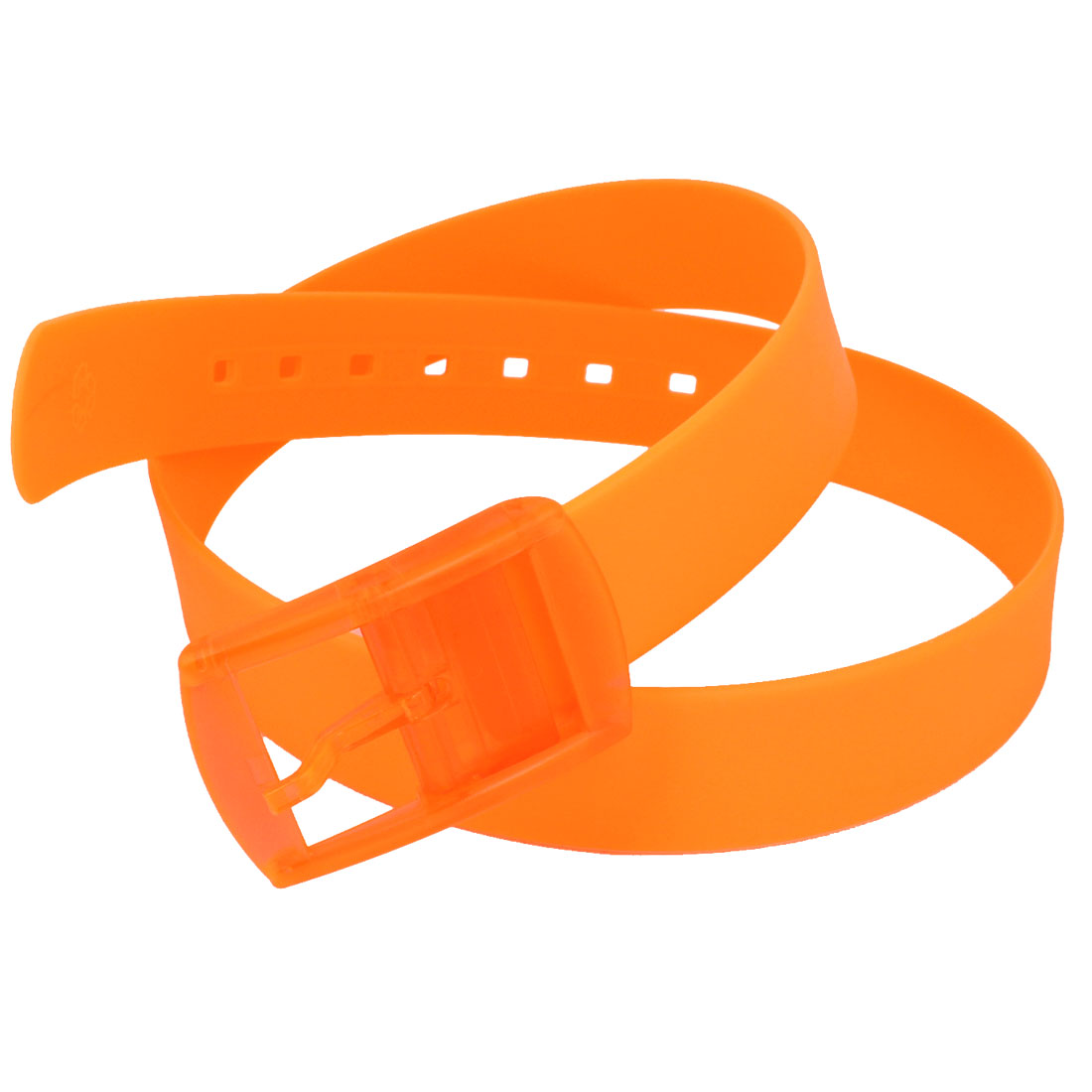 Jelly Plastic Rectangle Buckle 3.8cm Wide Sweet Smell Band Waist Belt Orange