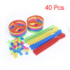 Children Playing Disc Toy Spiral Handle Plastic Flying Saucer Helicopter 40 Pcs