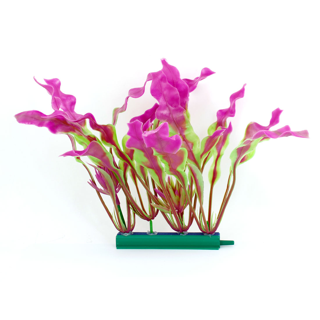 "Aquarium Emulational Decor Green Fuchsia Plastic Underwater Plant 7.7"" Height"
