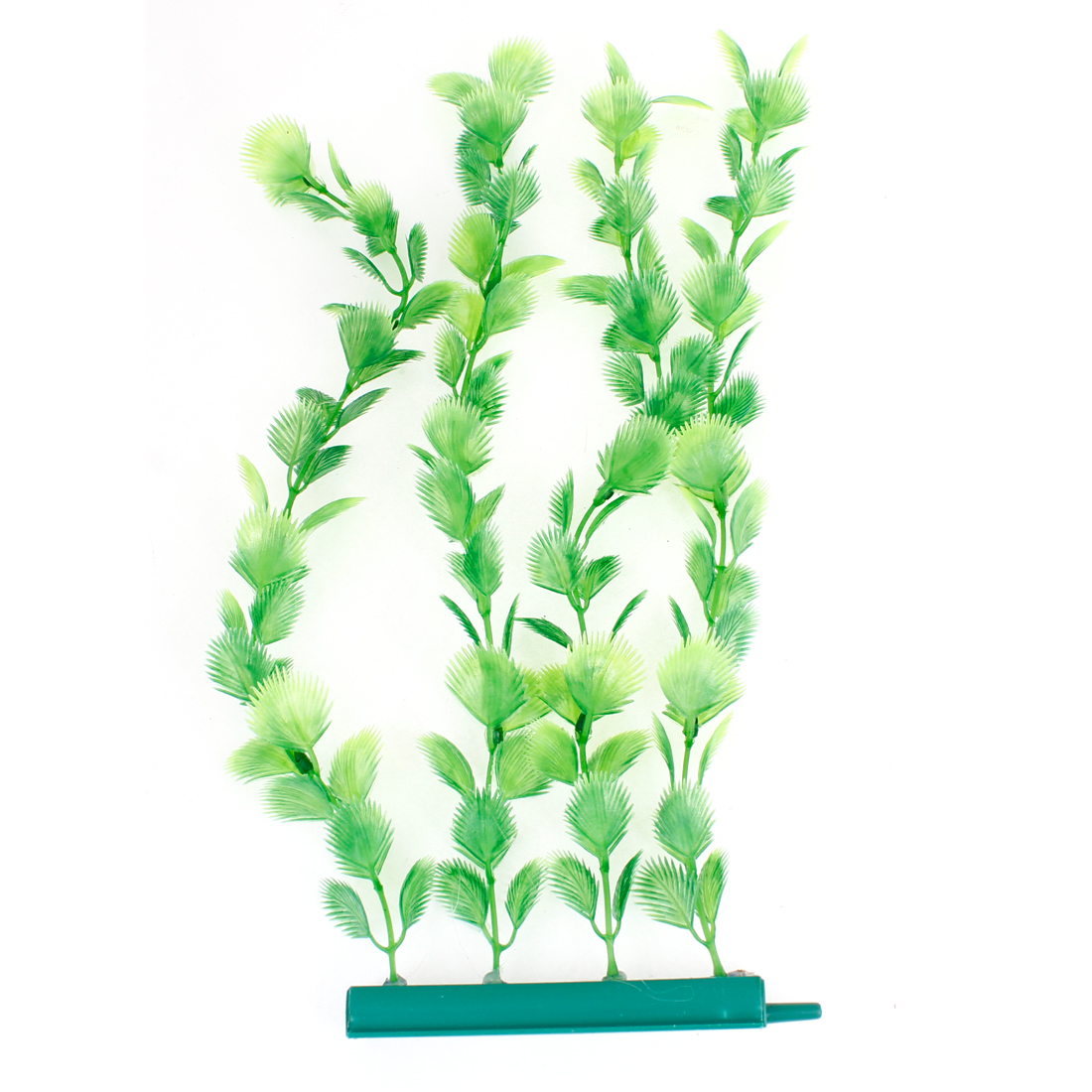 "Aquarium Emulational Decoration Green Plastic Underwater Plant 11.8"" Height"
